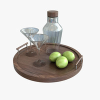3d cocktail tray