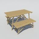 Bamboo Bench
