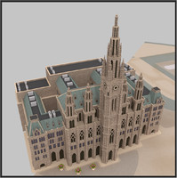 3d rathaus building vienna