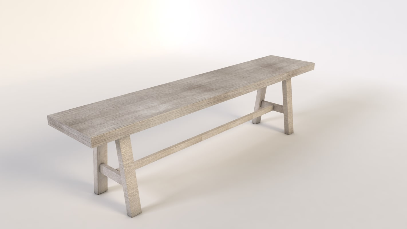 3d bench wood pic-nic model