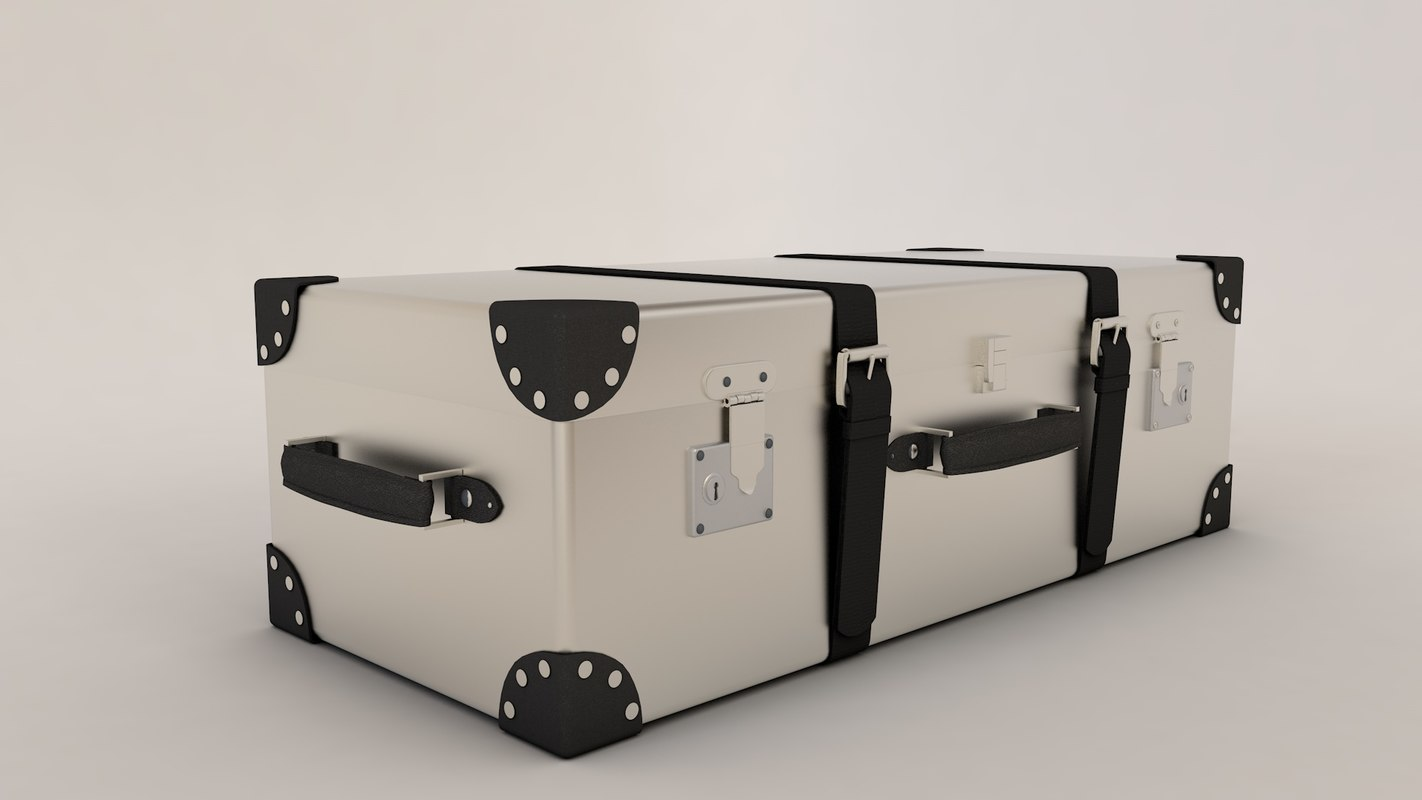 3d malle iron valise model