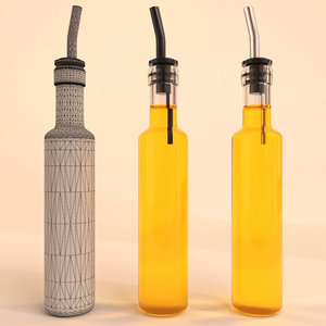 3d model olive oil bottle