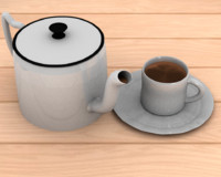 3d blend blender cycles kettle