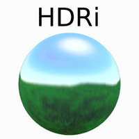HDRi Rendered Grass at Noon HDR image