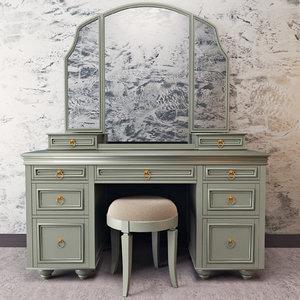 vanity make desk 3d model