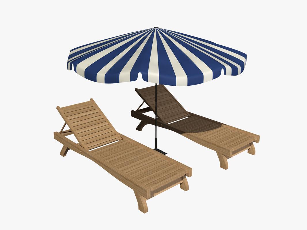 sunbed sun bed 3d max