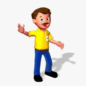 max moustache man cartoon