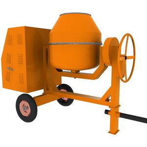 concrete mixer machine 3ds