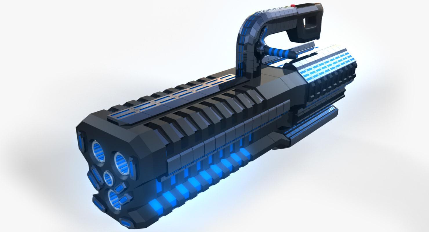 3d model conceptual gun tgp heavy