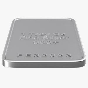 silver ounce 3d c4d