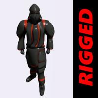 samurai humanoid unity3d 3ds