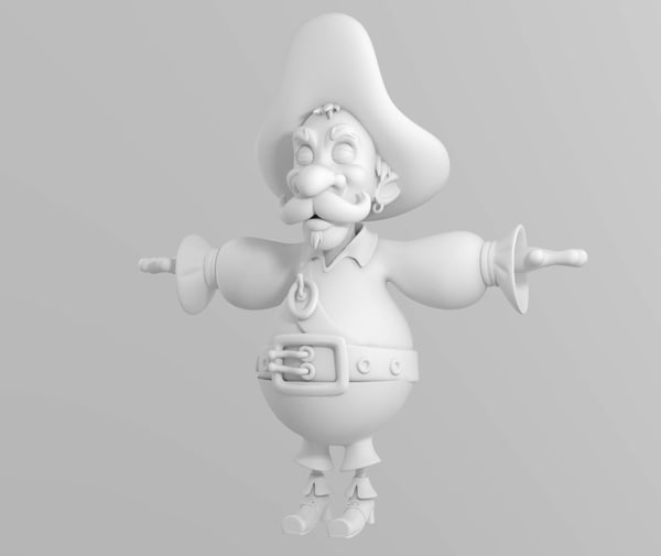 cartoon pirate obj