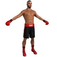 boxer man 3d max