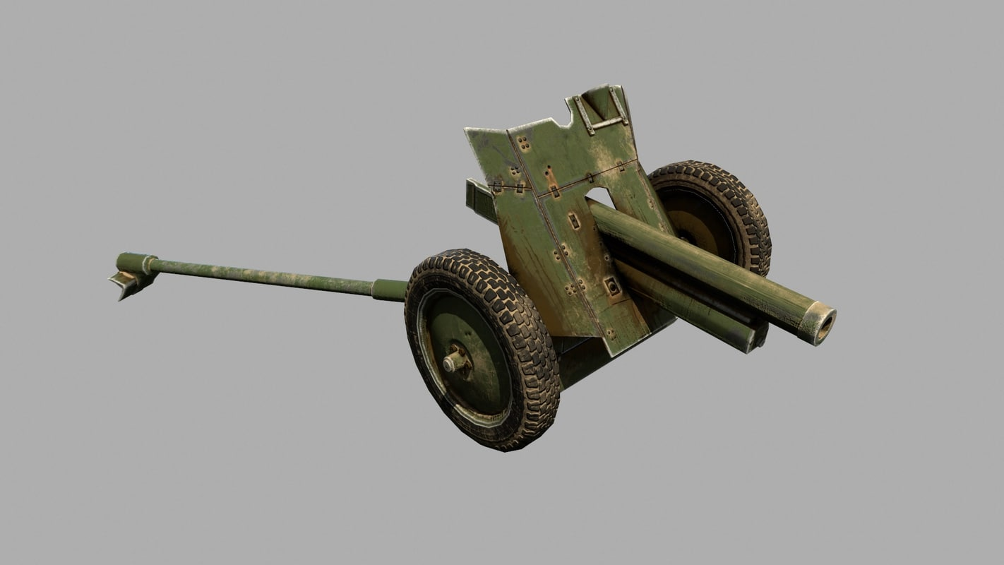 3d 76-mm regimental gun model