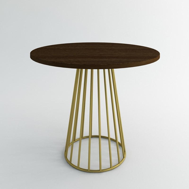 3d wired cafe table model
