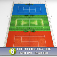 Multi tennis court stadium arena pack