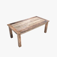 old table 3d max