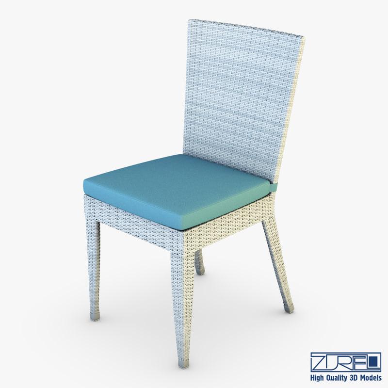 3d rexus chair white v