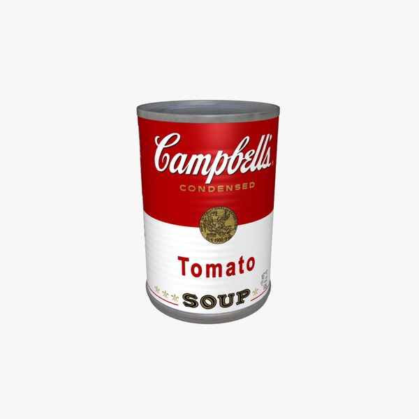 3d campbell s tomato soup