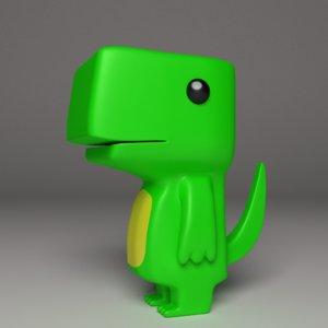 toy dinosaur 3d model