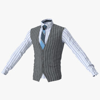 Mens Vest And Shirt