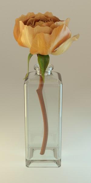 blender rose 3d model