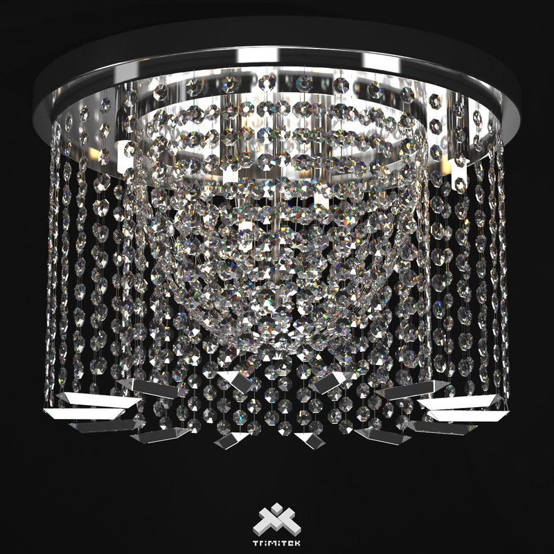 realistic crystal chandelier art 3d model