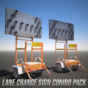3d model combo pack construction lane