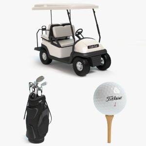 3d golf bag model