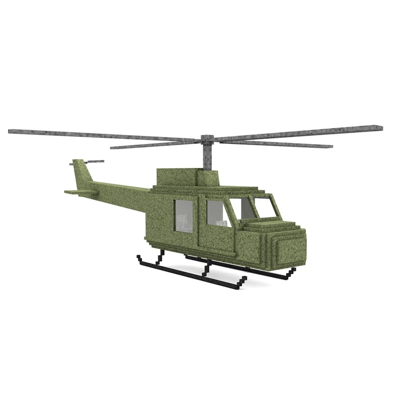 helicopter 3d c4d