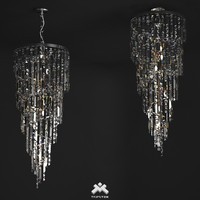 3d realistic crystal chandelier art model
