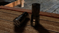 tactical flashlight 3d c4d