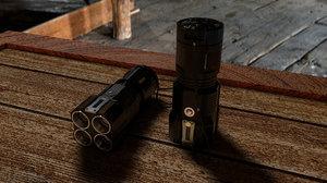 tactical flashlight 3d c4d