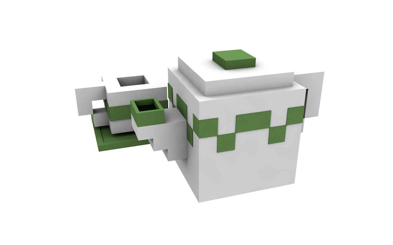 3d tea set minecraft model