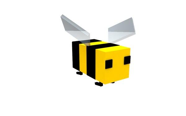 bee minecraft rig 3d model