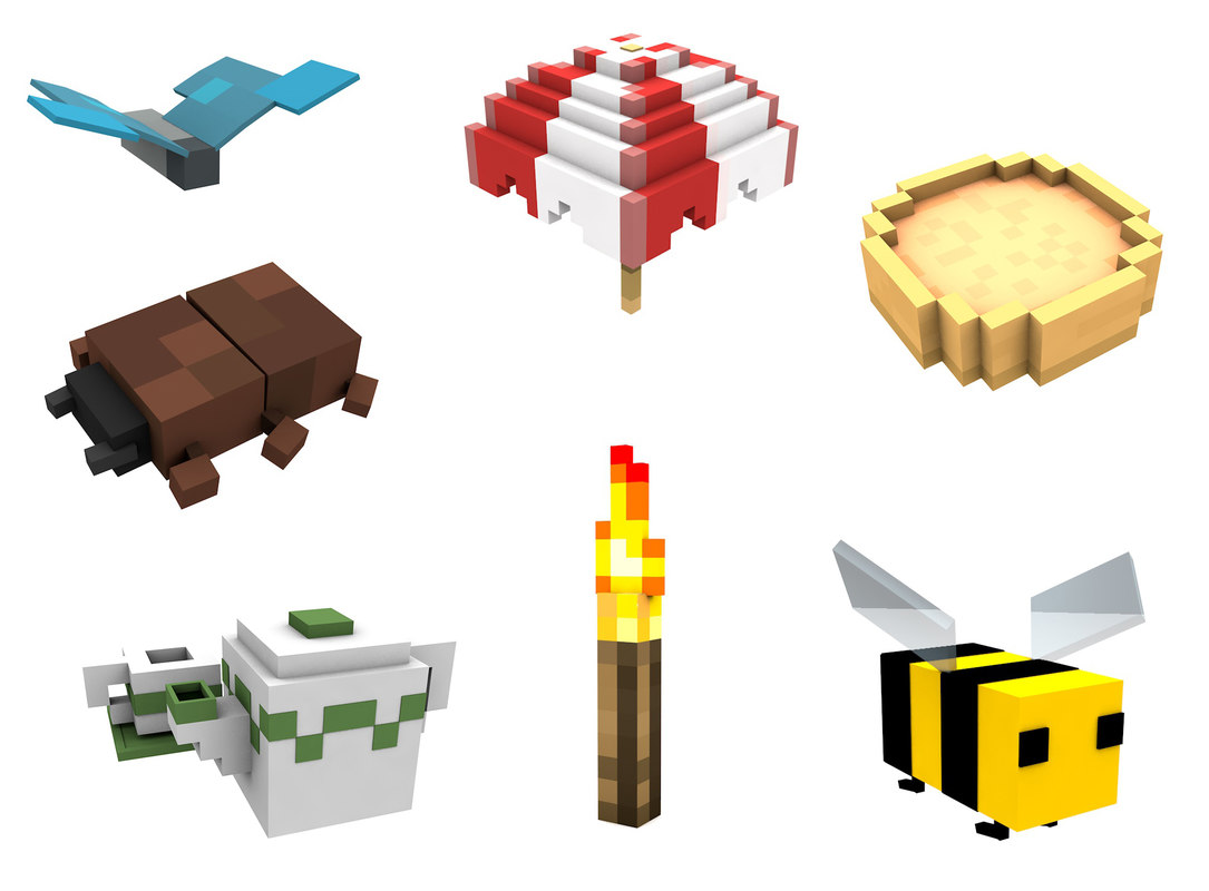 Minecraft Dig build life pack models and rigs