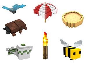 minecraft dig build life 3d c4d