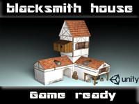 house building 3d fbx