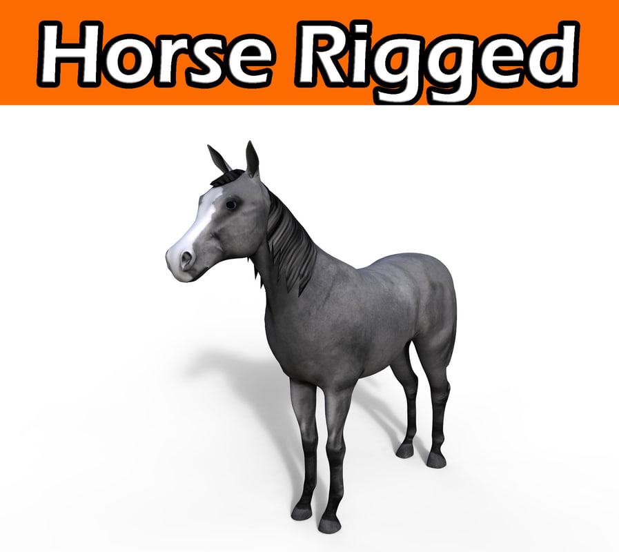 3d horse rigged