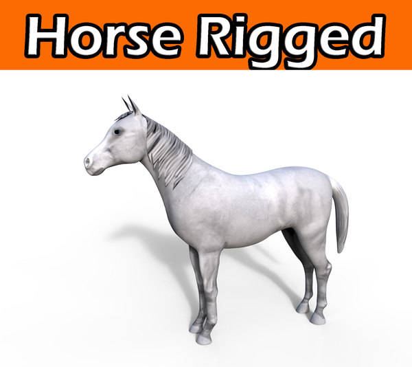 horse rigged 3ds