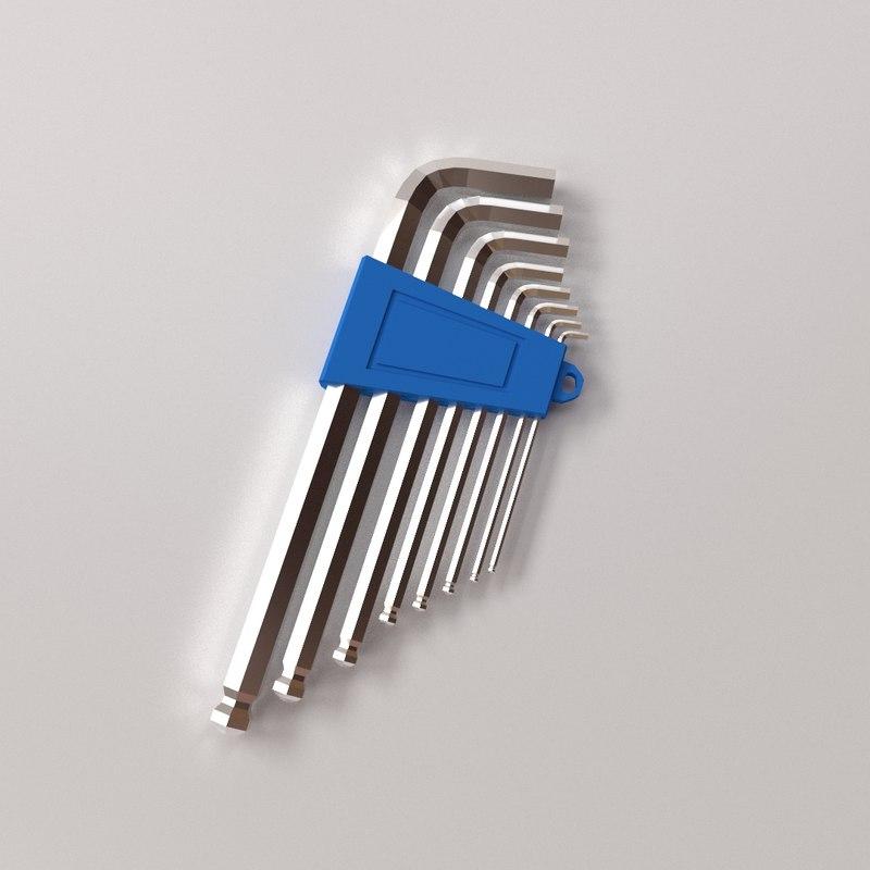 hex key 3d model
