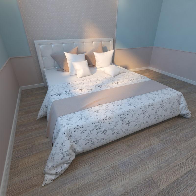 bed ascona 3d max