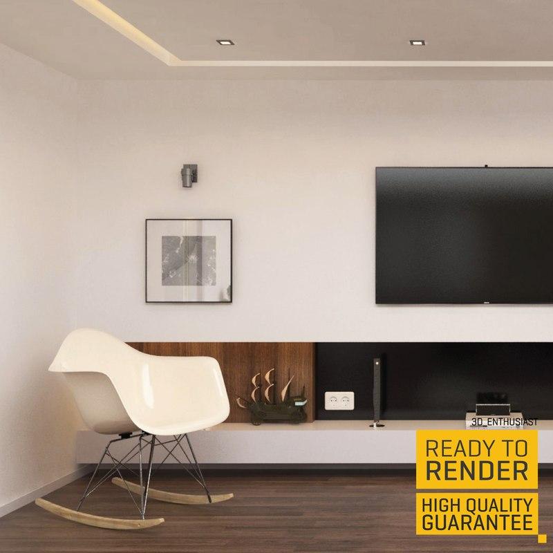 3d penthouse interior design