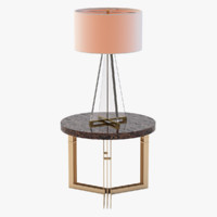 Adrianahoyos Side Table & Lamont Lamp
