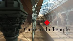 carreau du temple building c4d