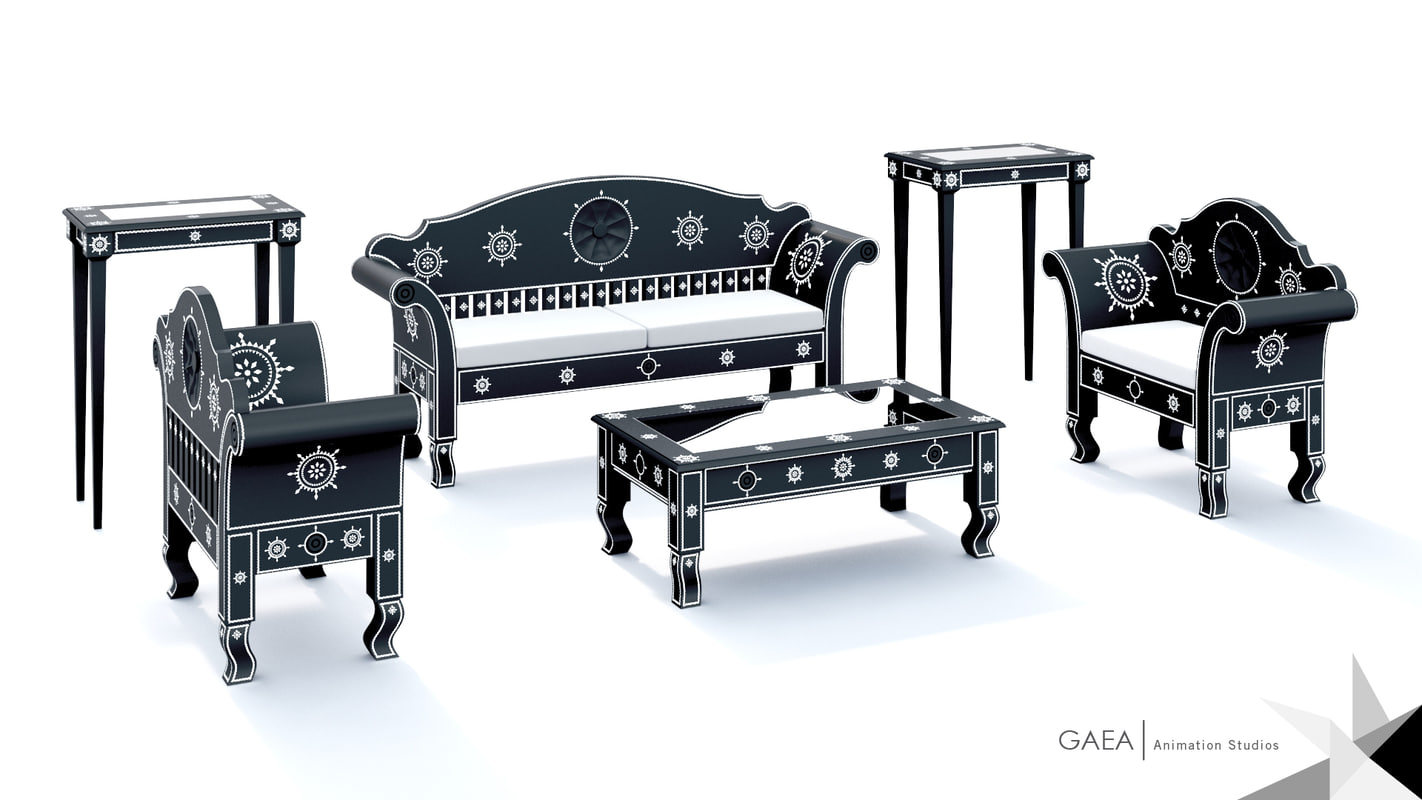 3d model of cukli furniture set