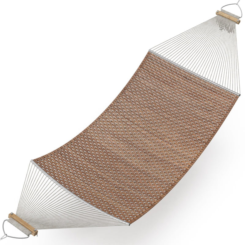 3d model of hammock rattan