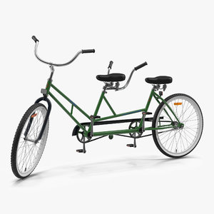ma retro bicycle built rigged