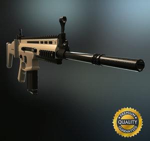 3d fn scar h - model
