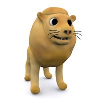lion cartoon 3d max